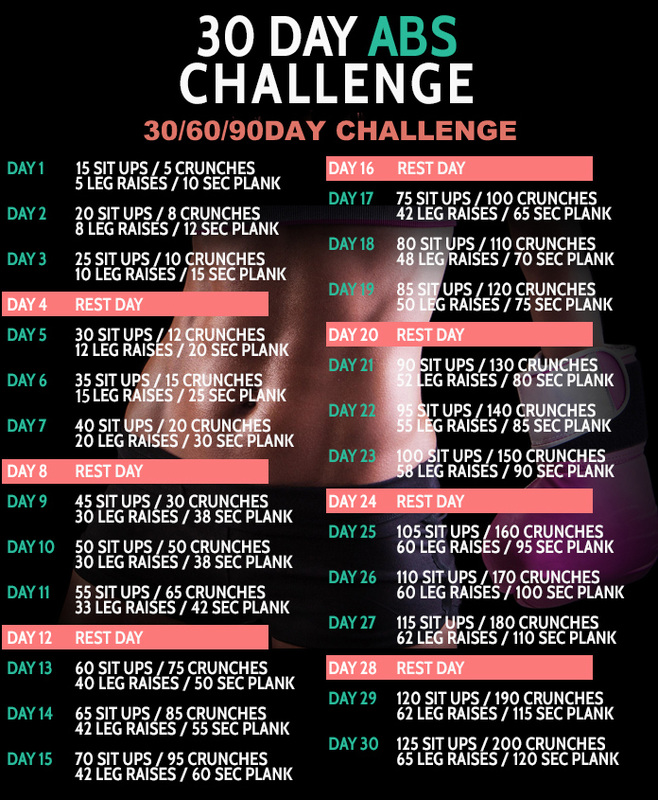 30 Day Abs Challenge 306090 D