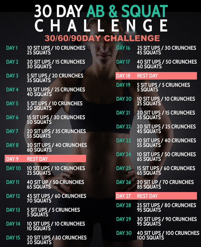 30 Day Ab Amp Squat Challenge 306090 D